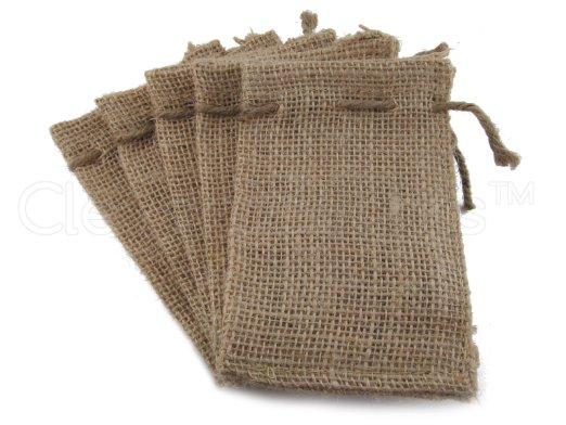 of burlap bags