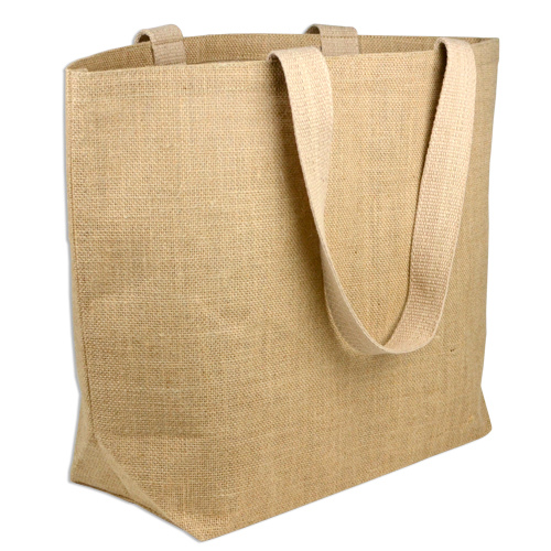 "Natural Burlap Beach Bag - 24"" x 19"" x 6"""