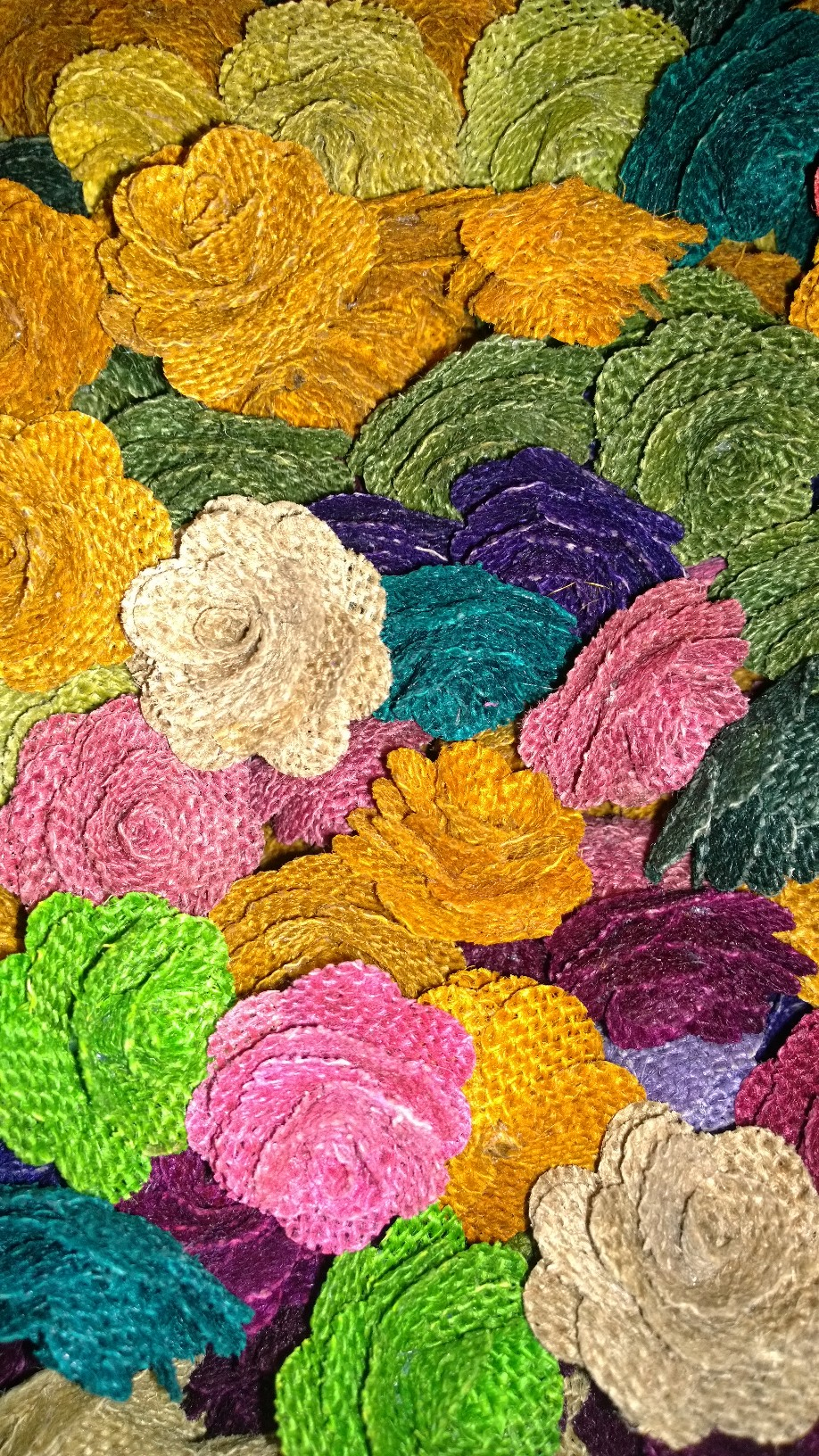 Burlap Flowers Color Assortment - (12 Pack)