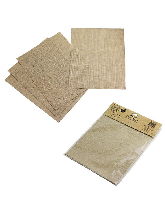 "Burlap Laminated Sheets 8.5"" x 11"" (6 Pack)"