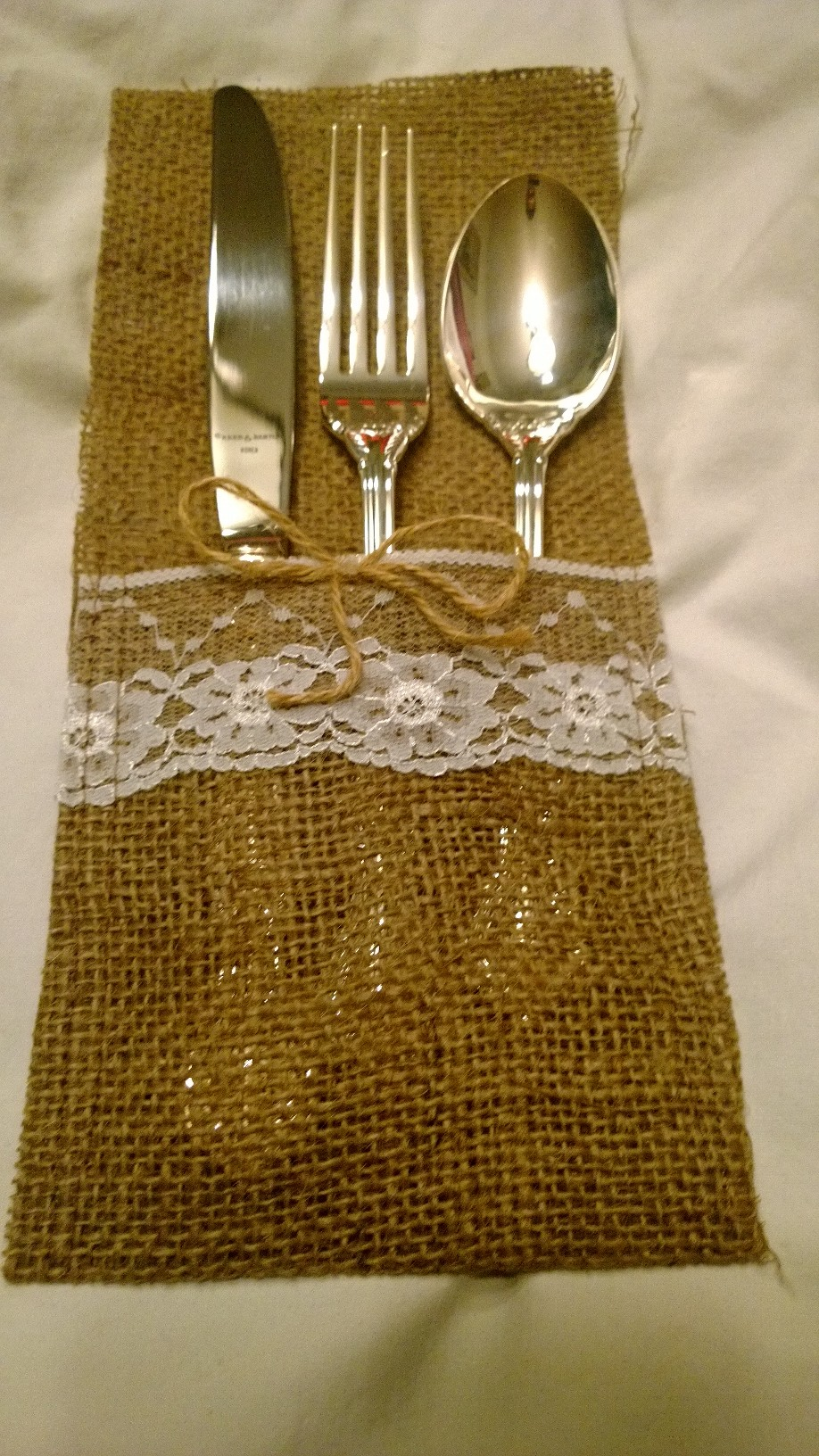 Burlap Silverware Holder (8 Pack)