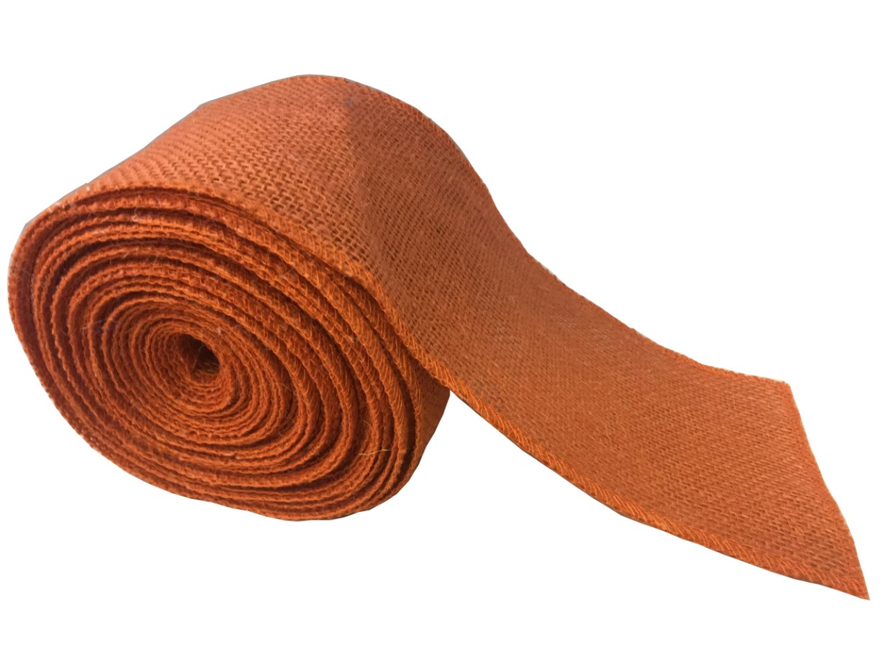 "4"" Burnt Sienna Burlap Ribbon - 10 Yards (Sewn Edges)"