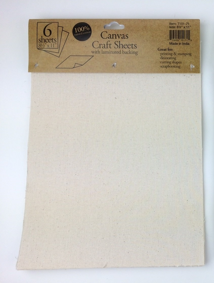 "Canvas Laminated Sheets 8.5"" x 11"" (6 Pack)"