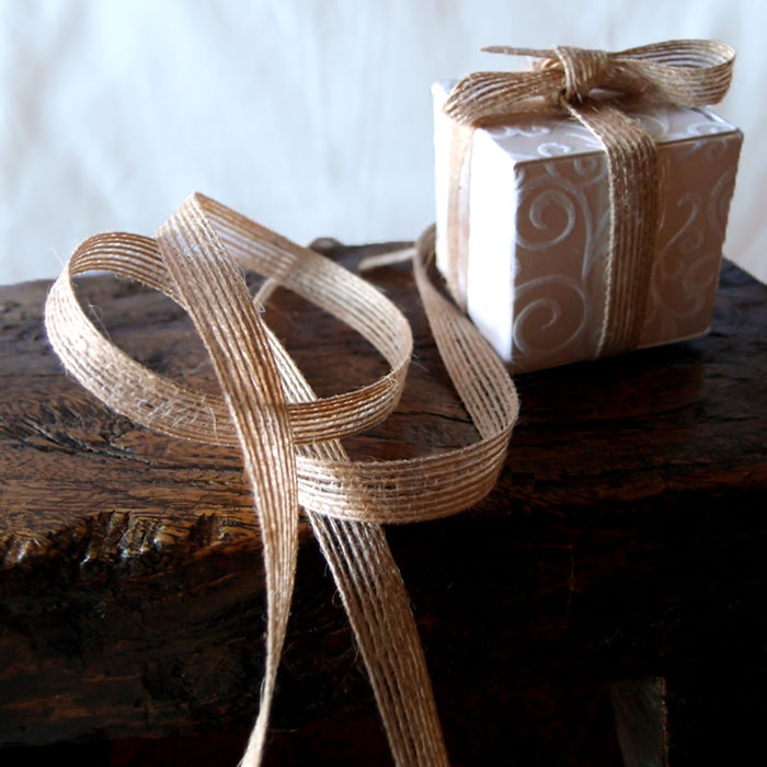 "Burlap Ribbons - 3/8"" Wide"