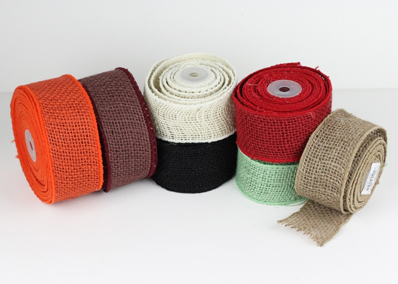 Wired Edge Burlap Ribbon