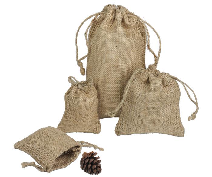 Natural Jute Bags W String