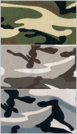 9 - 10 oz Camo Duck Cloth