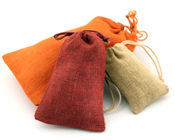 Colored Jute Bags w/ Jute String