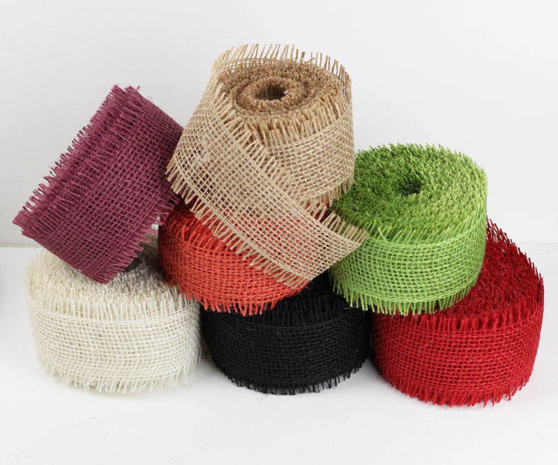 "Burlap Ribbons - 1.5"" Wide"