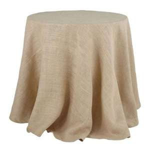 Burlap Tablecloth - Round