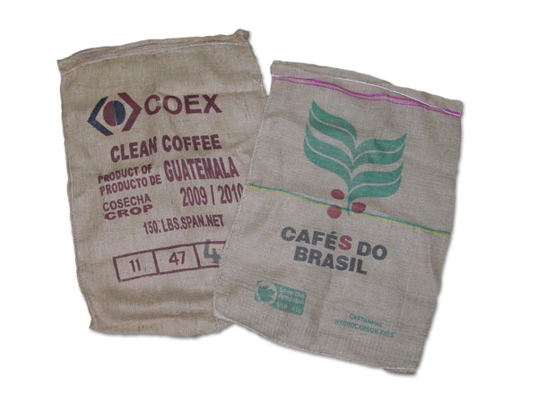 "Used Coffee Bags Burlap - 28"" x 40"""