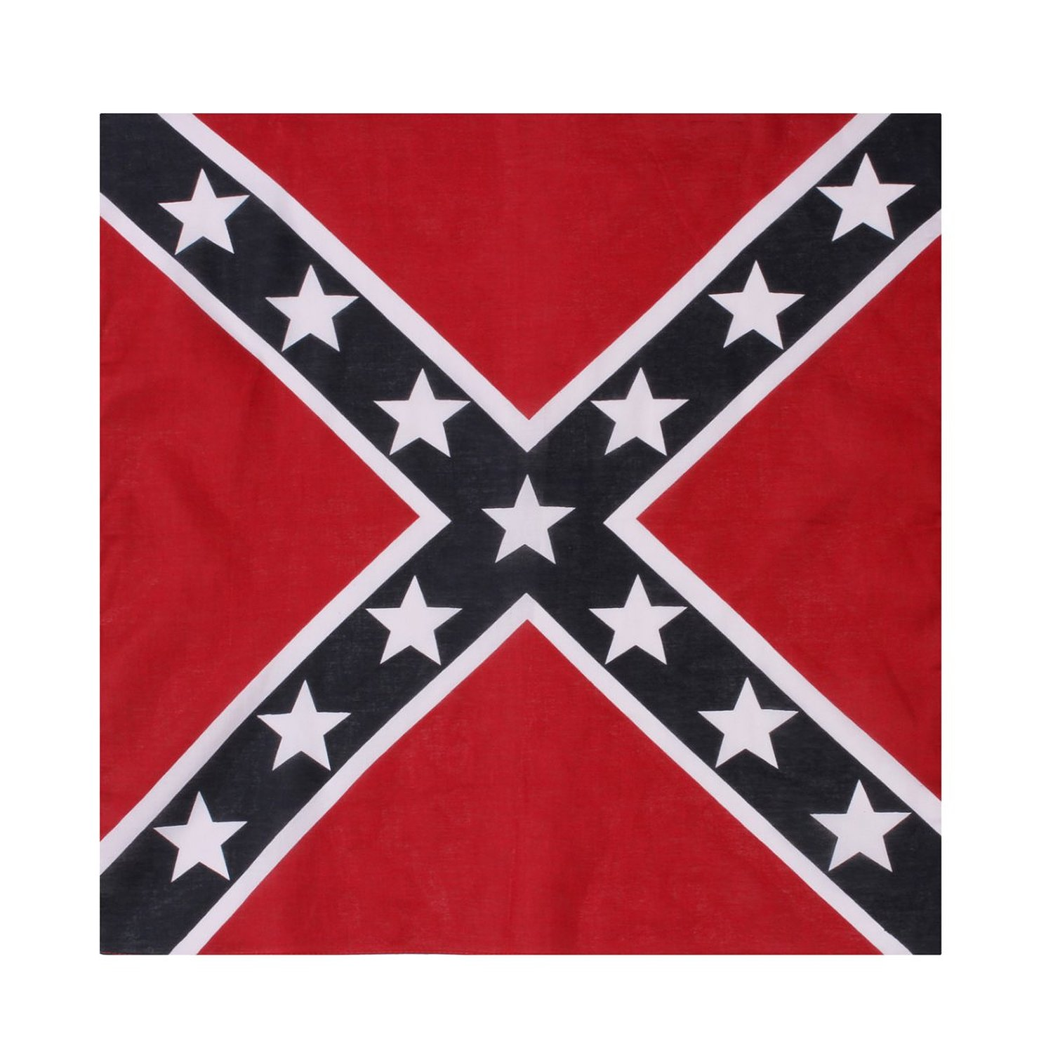 "Confederate Flag Bandana 22"" x 22"" - 100% Cotton"