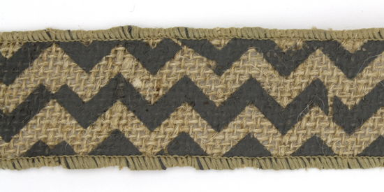 "1.5"" Dark Grey Chevron Burlap Ribbon - 10 Yards"