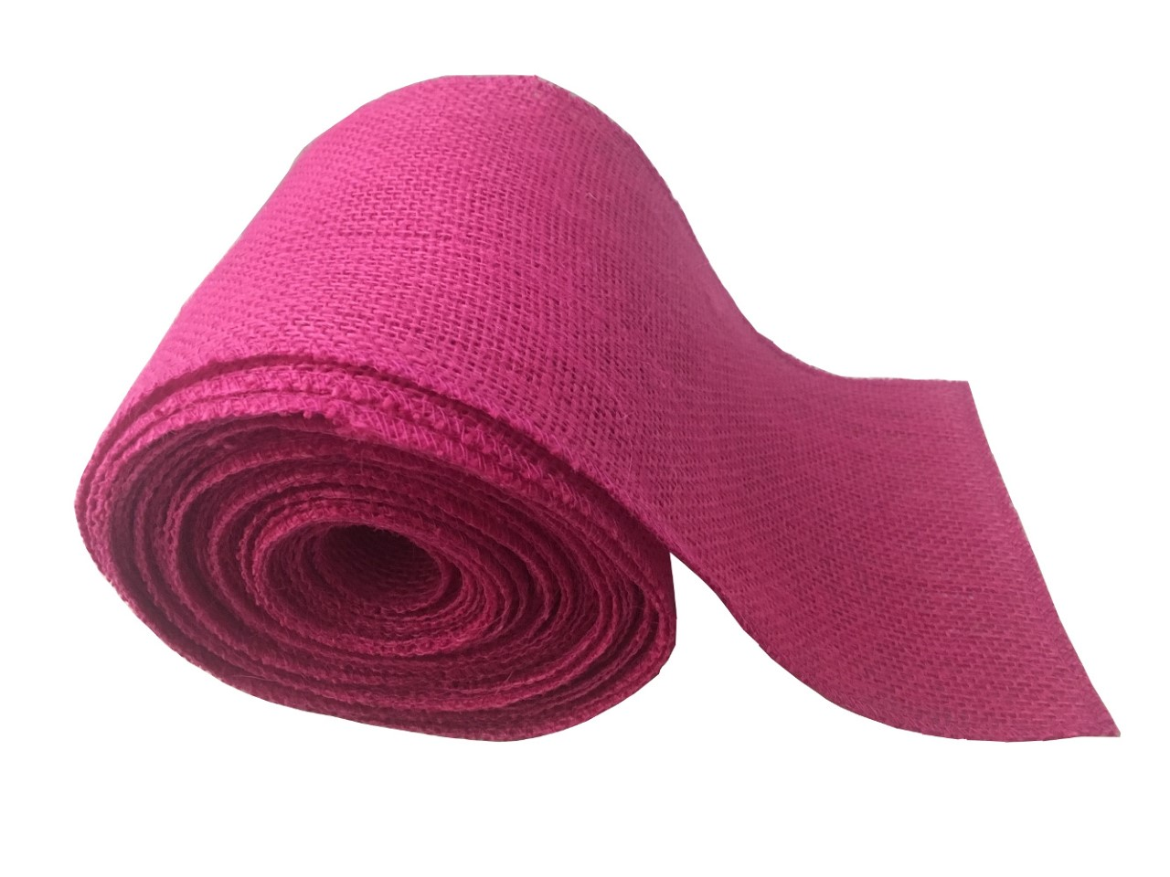 "6"" Fuchsia Burlap Ribbon - 10 Yards (Serged)"