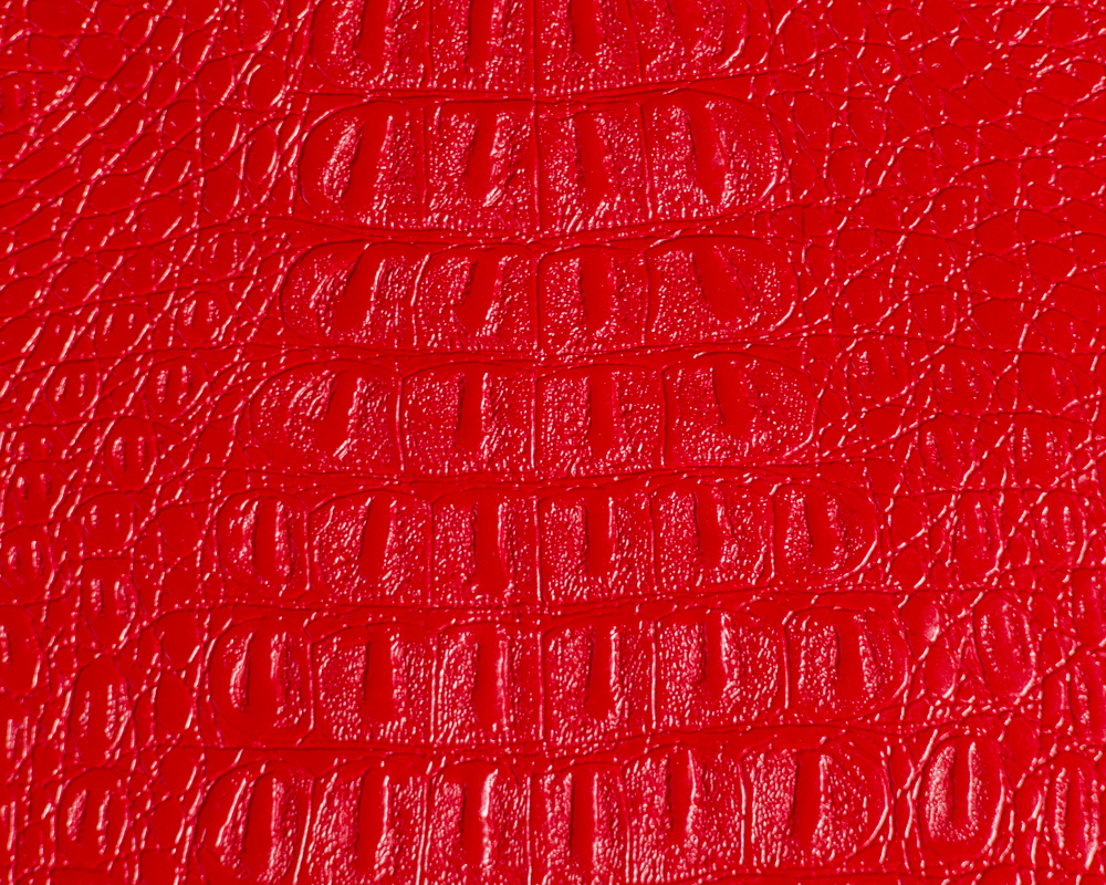 "54"" Red Gator Faux Leather Fabric - By The Yard"