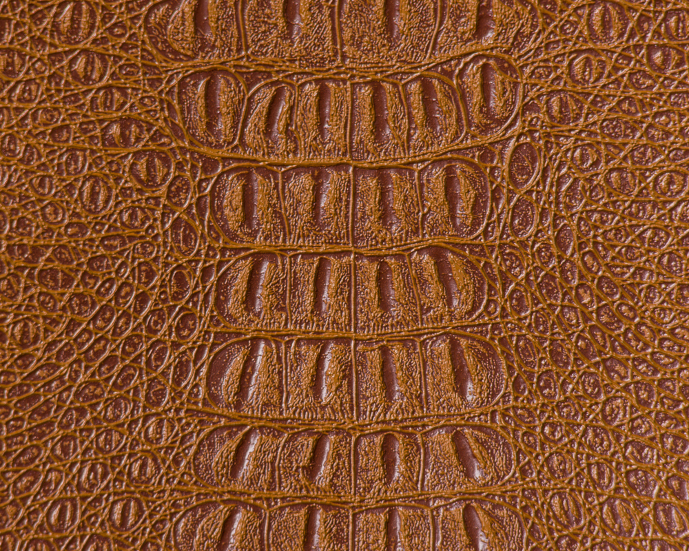 "54"" Saddle Gator Faux Leather Fabric - By The Yard"