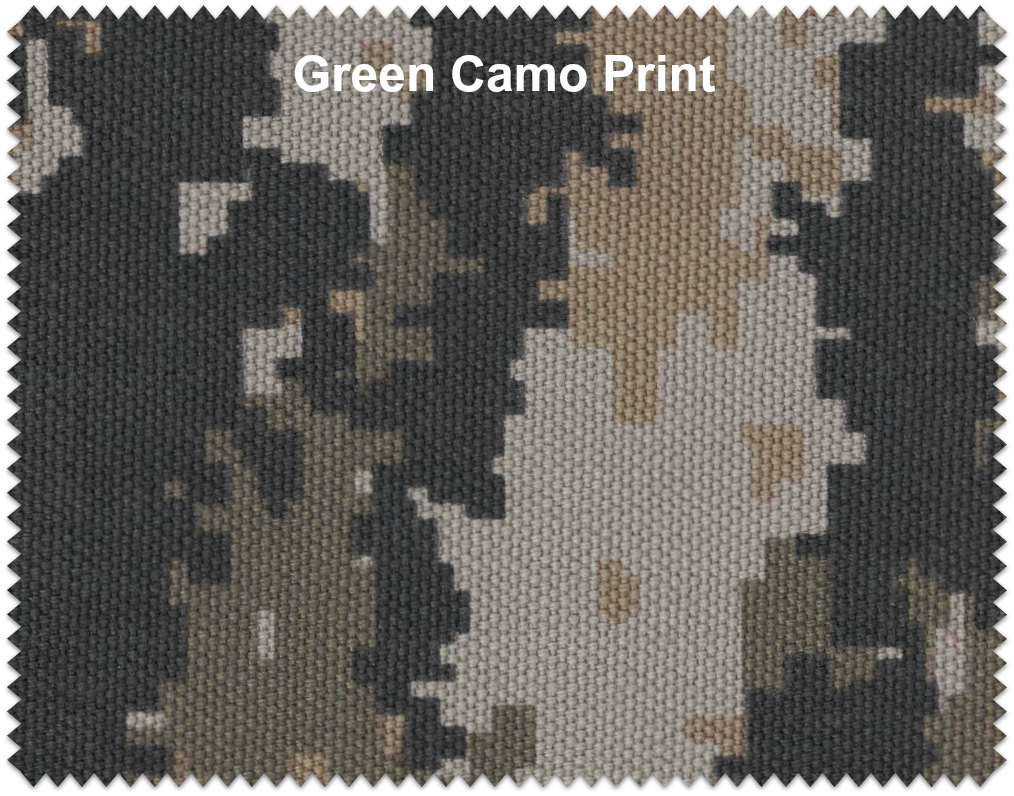 "Green Camo Duck Cloth 60"" 12oz By The Yard"