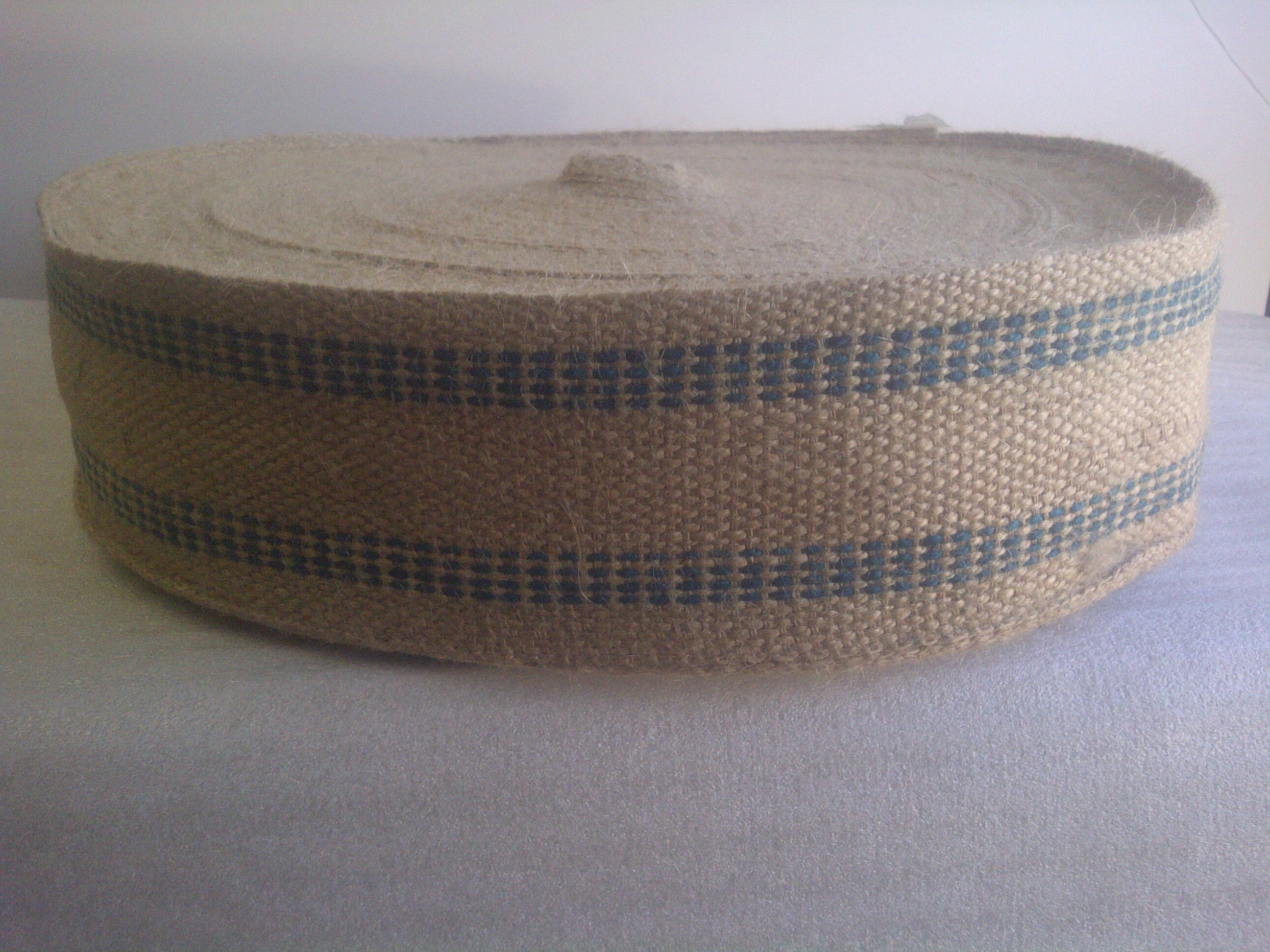 Green Burlap Webbing - 10 Yard Increment