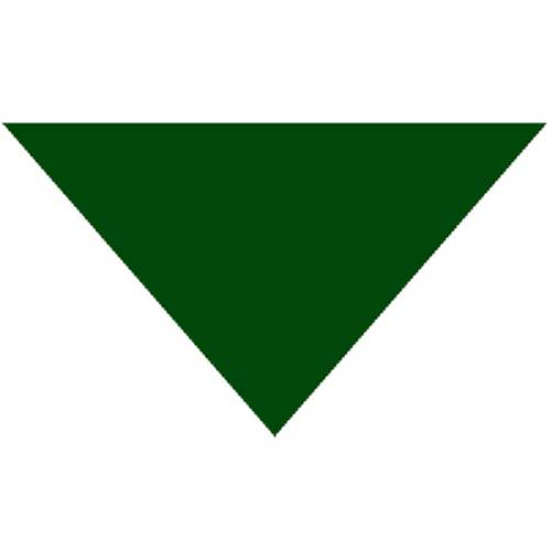 "Green Triangle Bandanas 22"" x 2"" x 30"" (12 Pack)"