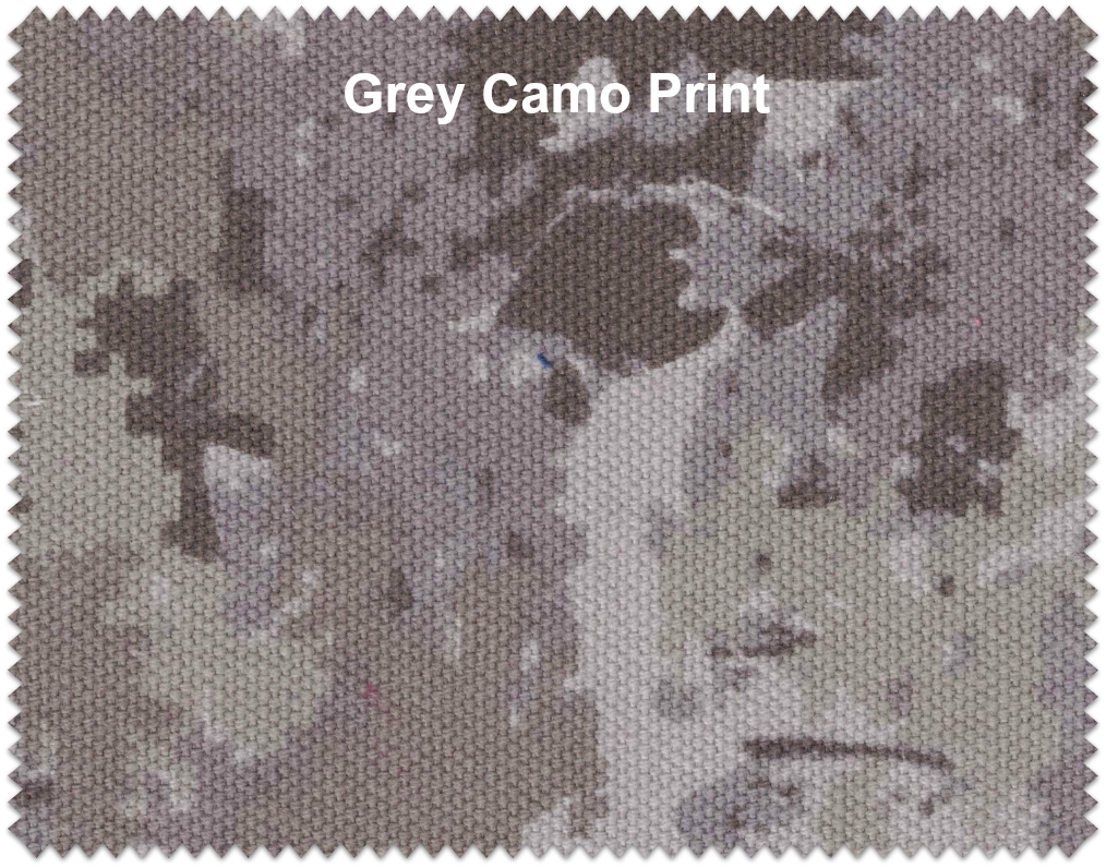 "Gray Camo Duck Cloth 60"" 12oz By The Yard"