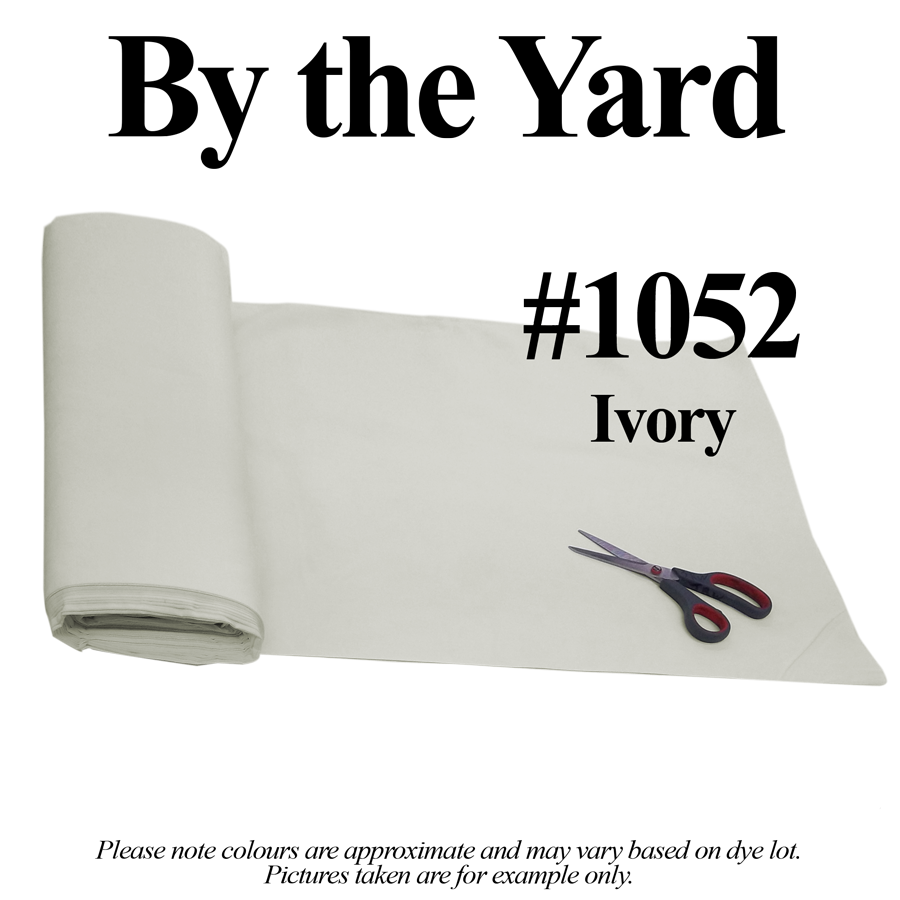 "Ivory Broadcloth Fabric 45"" - By The Yard"