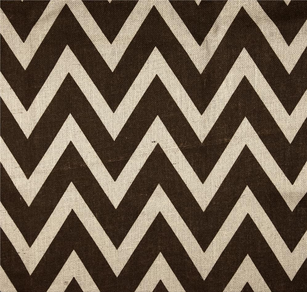 "60"" Ivory Brown Chevron Burlap - By The Yard"