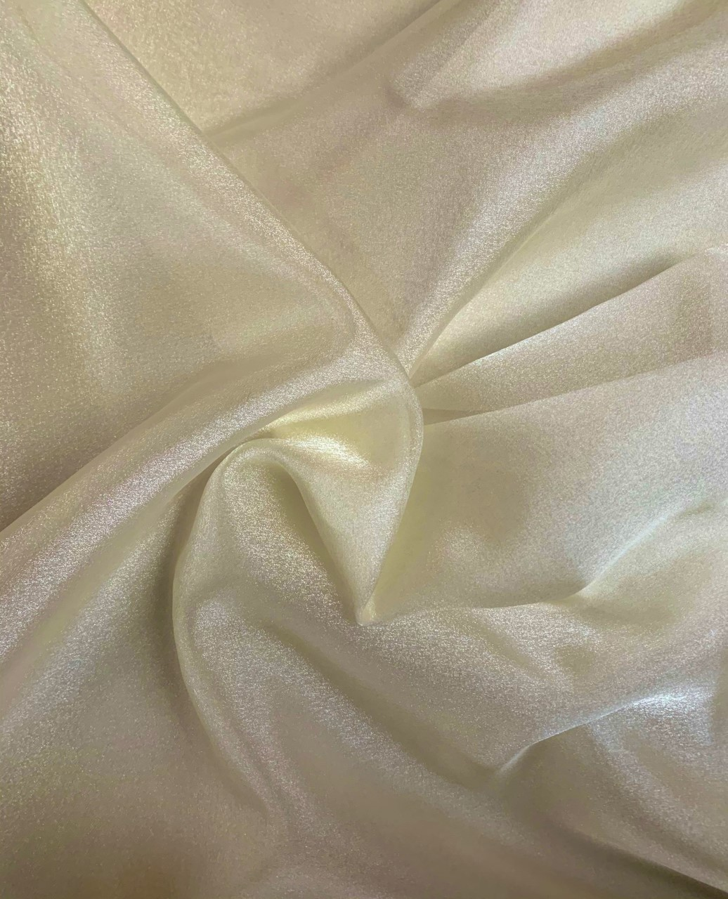 "Off-White Crepe Fabric -60"" By the yard (100% Polyester)"