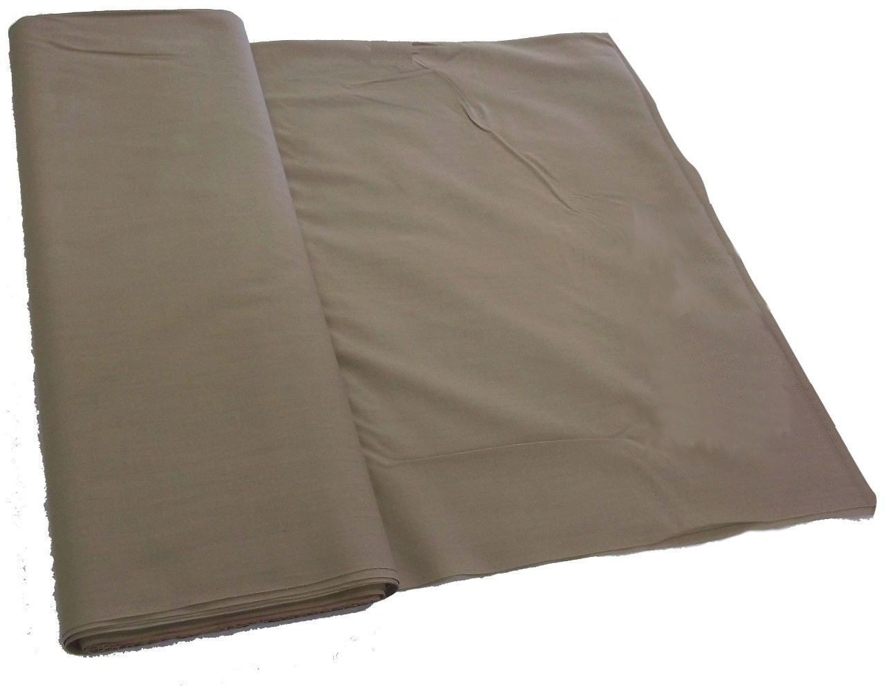 "Khaki Broadcloth Fabric 45"" - By The Yard"