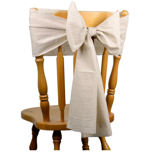 "8"" x 108"" Linen Chair Sash - Selvage Edge"
