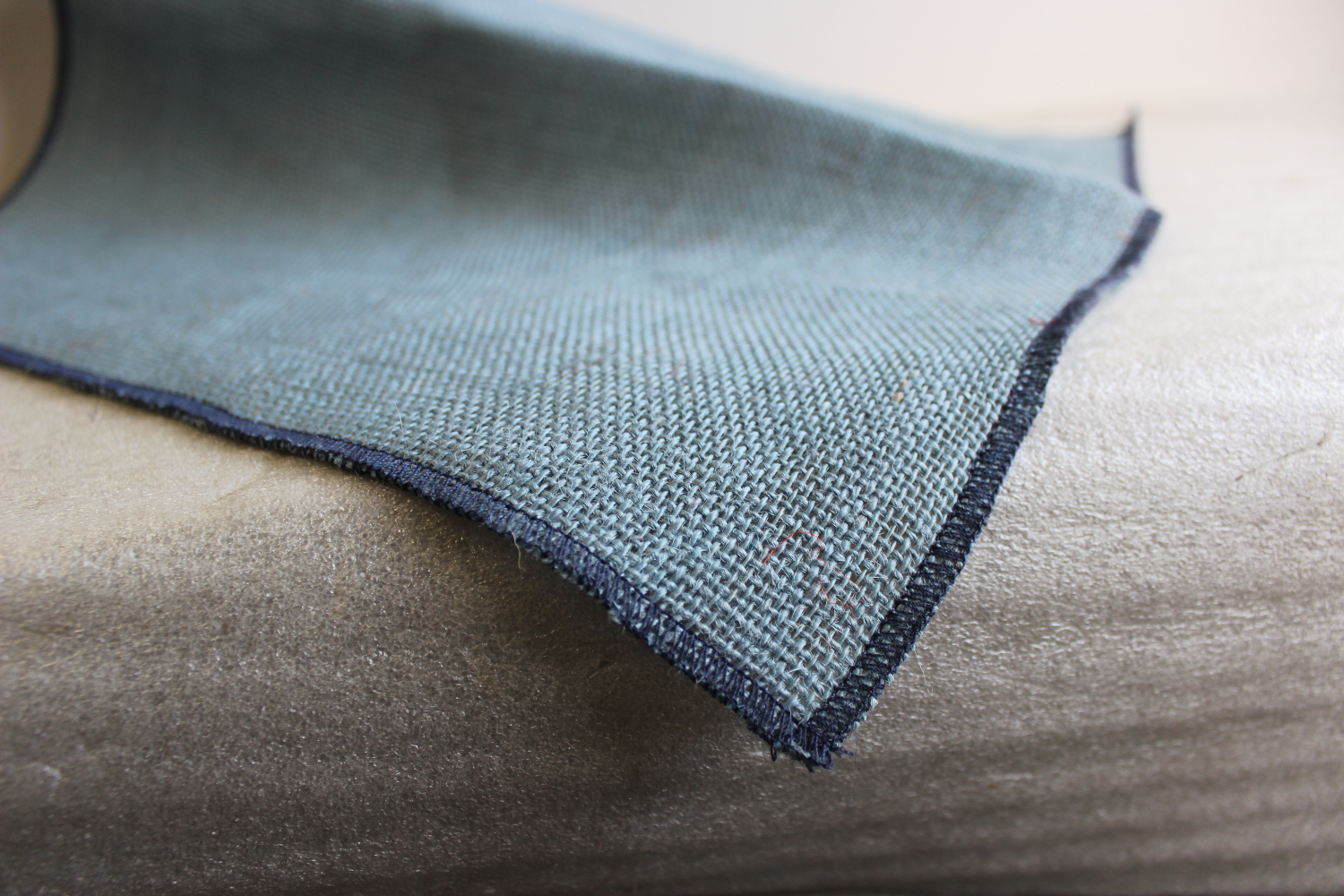 Colored Napkins -Light Blue with Navy Edge