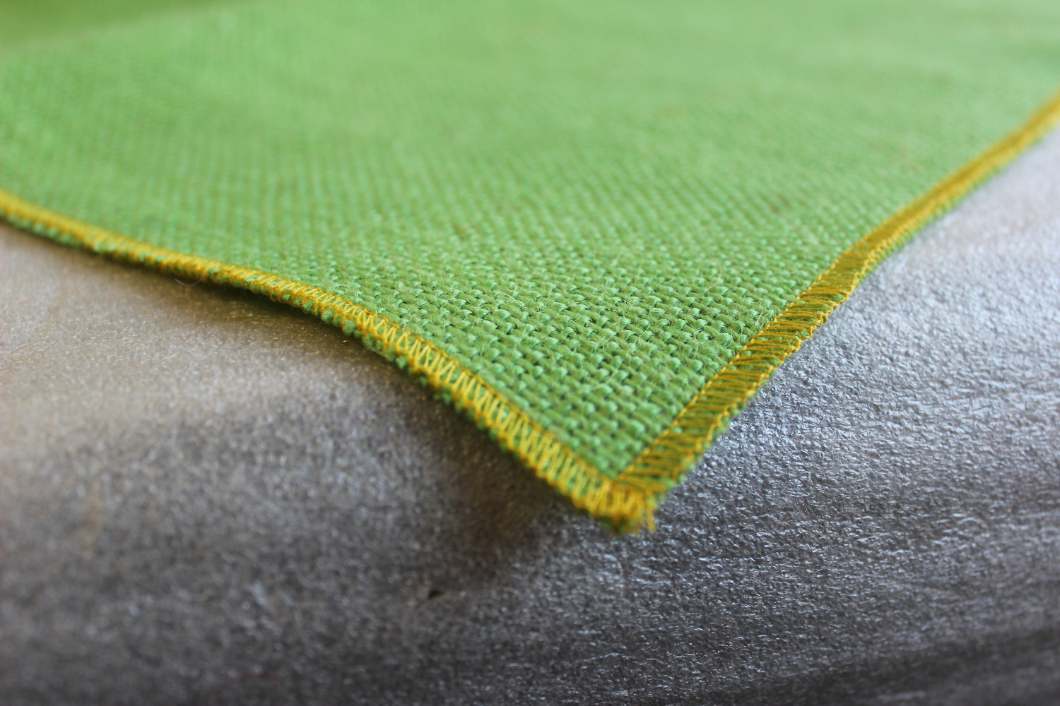 Colored Napkins -Lime with Sage Edge