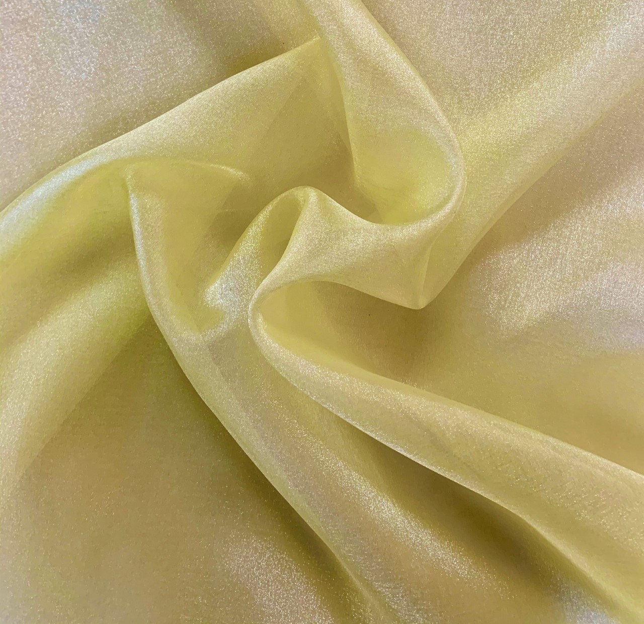 "45"" Maize Sparkle Organza Fabric - 100% Nylon (Per Yard)"