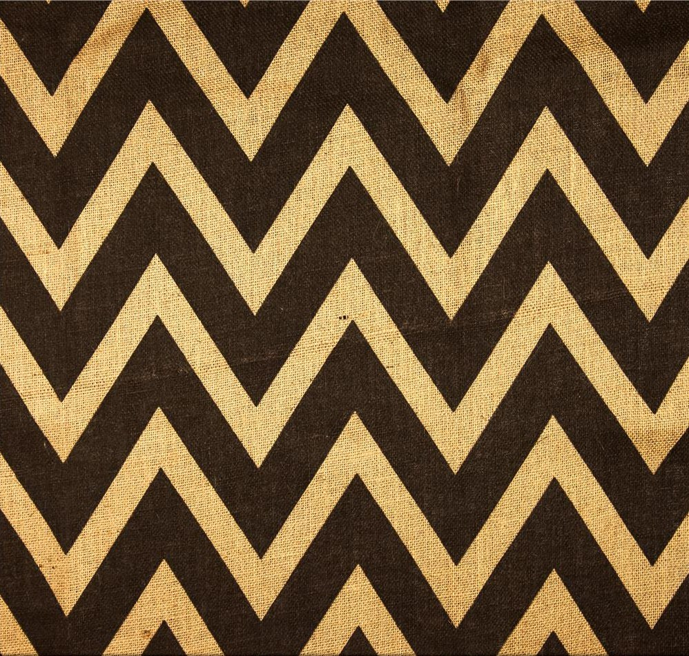 "Natural Brown Chevron Burlap - 60"" 20 Yard Bolt"
