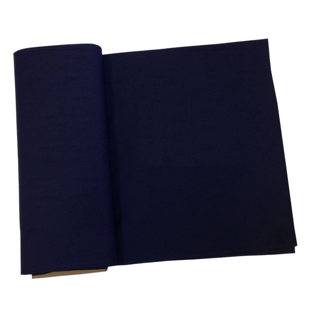 "Navy Broadcloth Fabric 45"" - Per Yard"