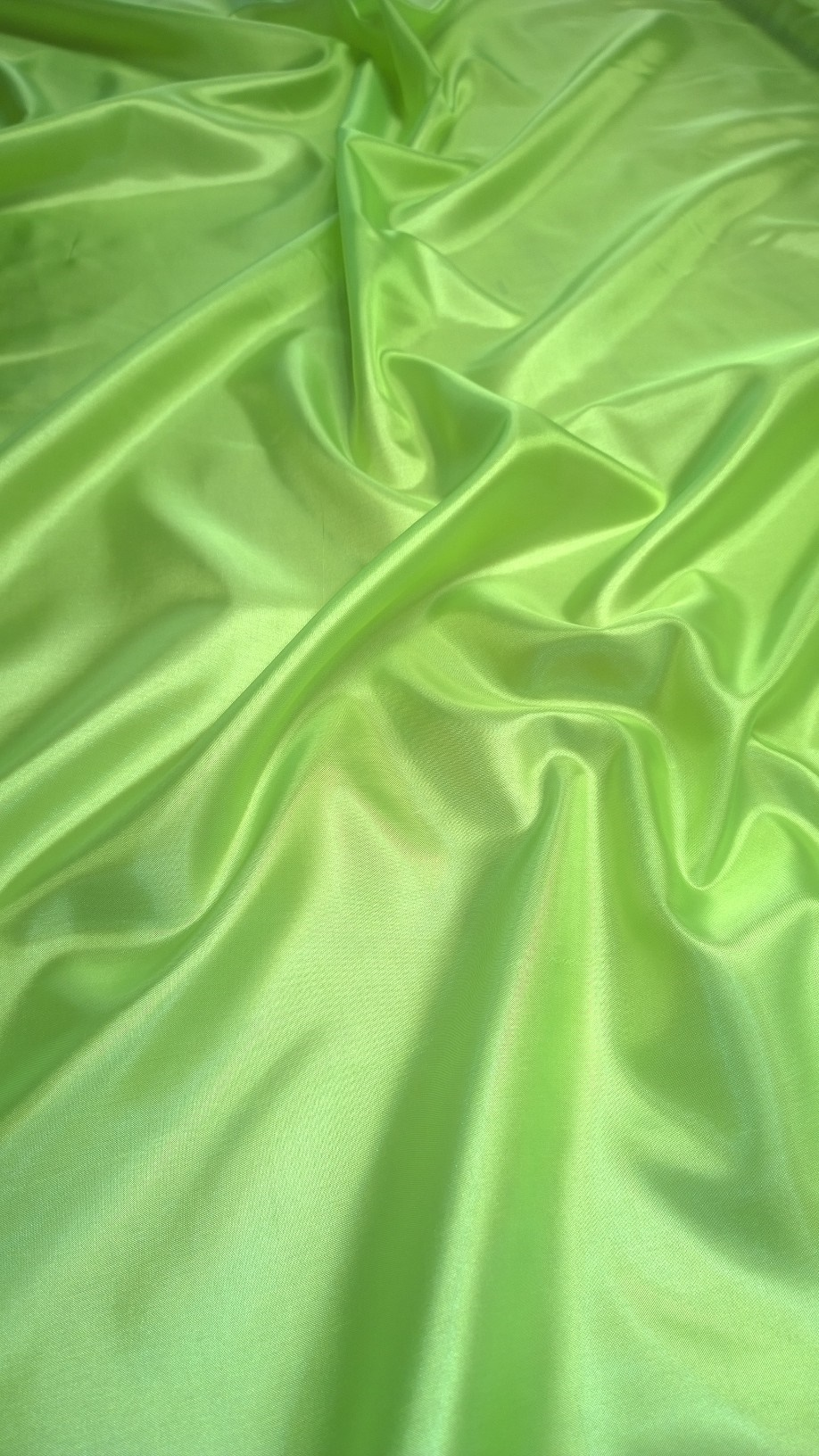 "Neon Green Habotai Fabric 60"" - By The Yard"