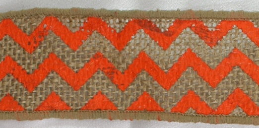 "1.5"" Orange Chevron Burlap Ribbon - 10 Yards"