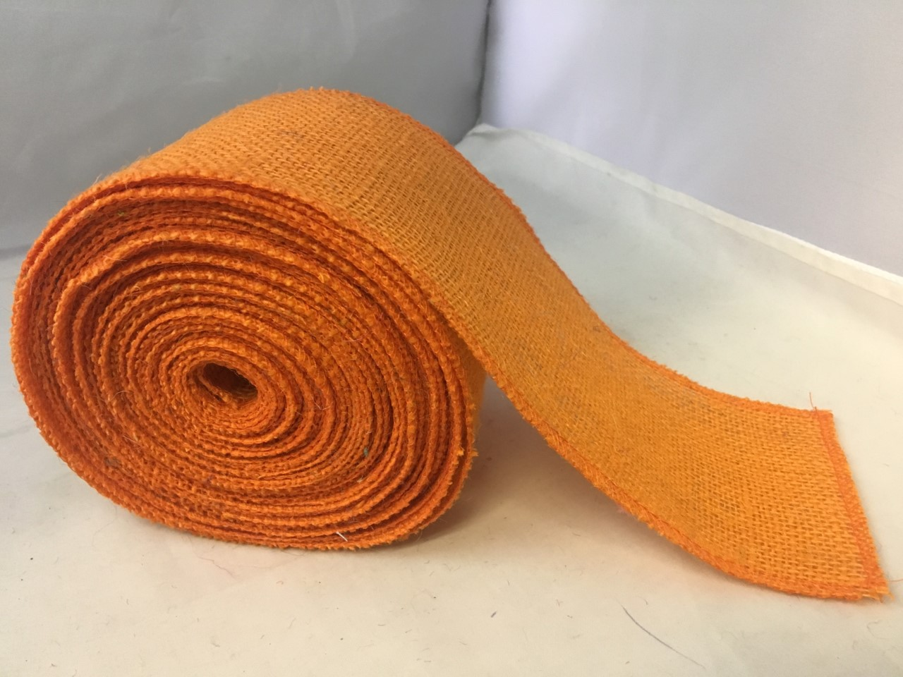 "45"" Orange Sparkle Organza Fabric - 100% Nylon (Per Yard)"