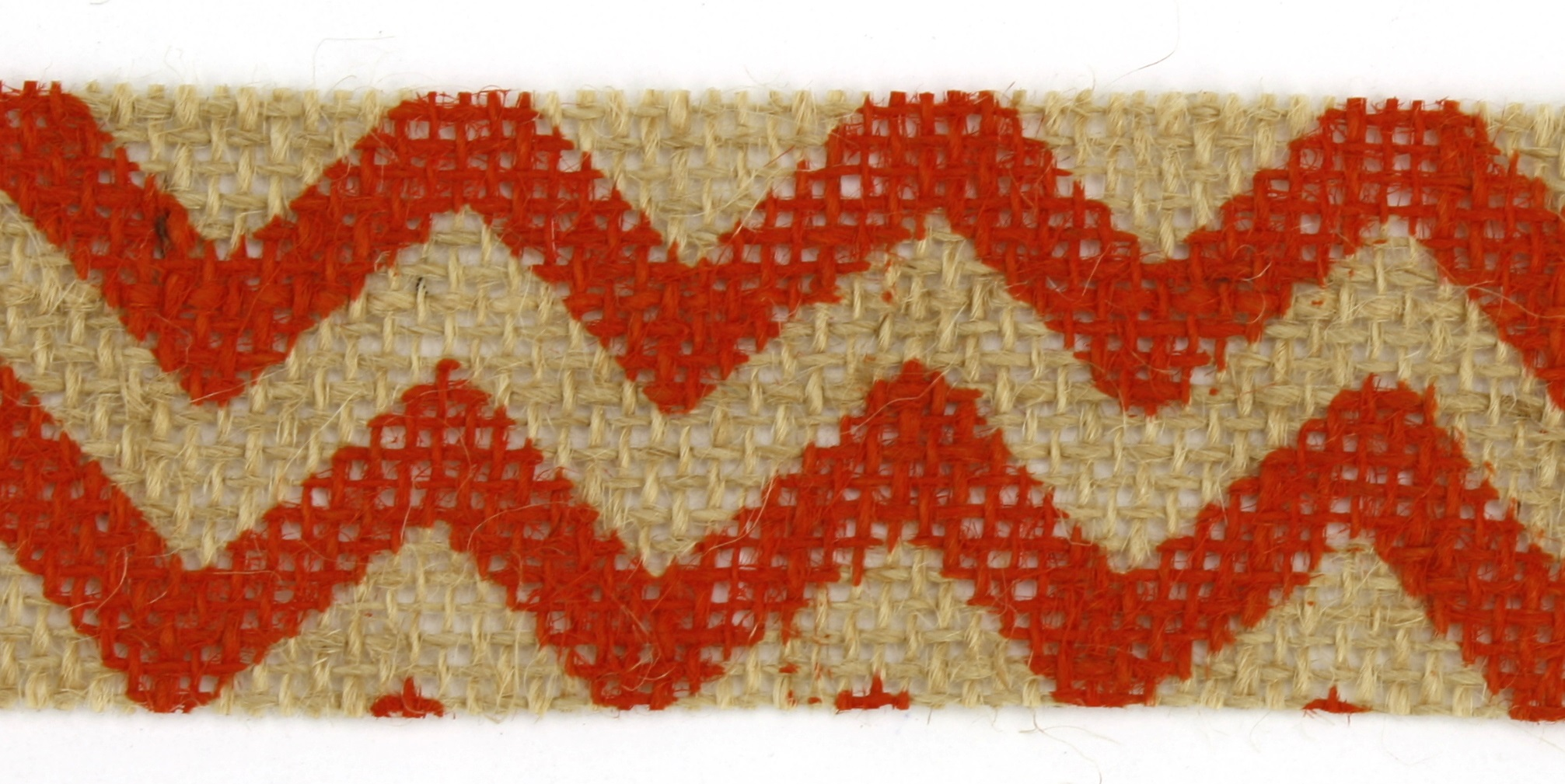 "1.5"" Cut Orange Chevron Burlap Ribbon - 10 Yards"