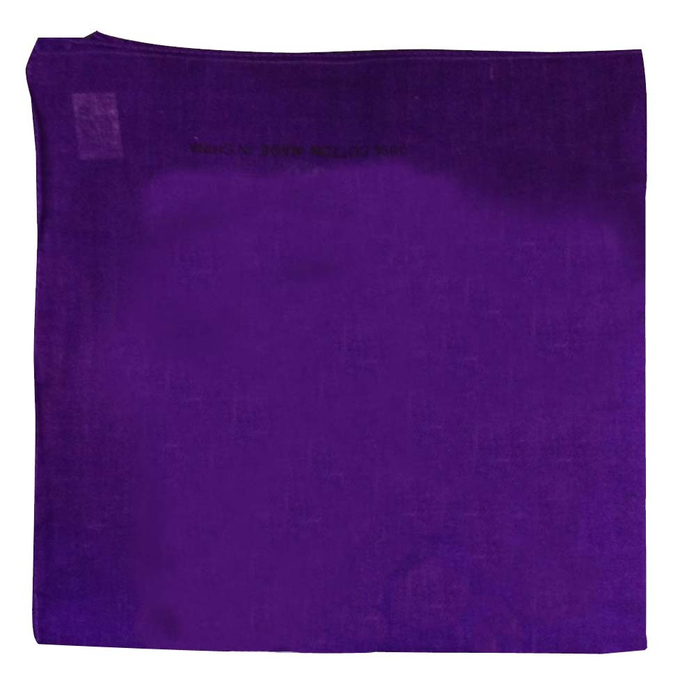 "Purple Solid Bandana - 22"" x 22"" (100% cotton)"
