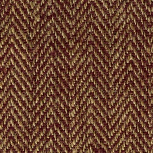 "Red/Natural Herringbone - By The Yard (48"" wide)"