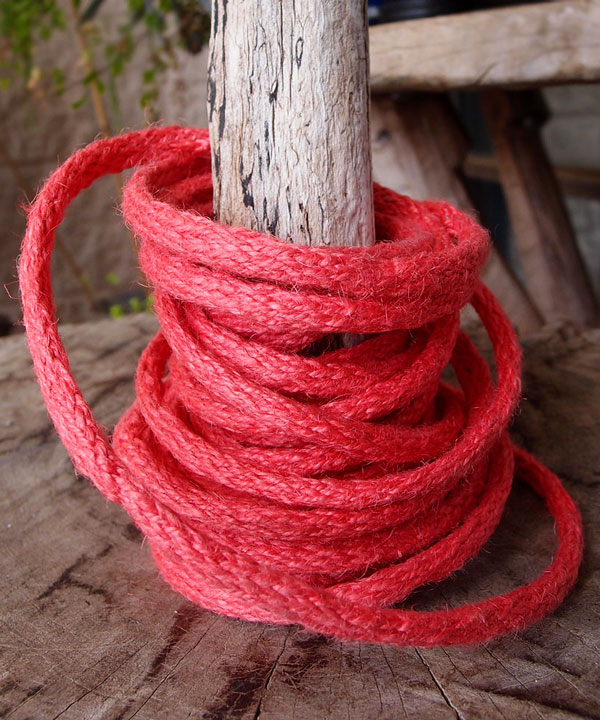 Coral Red Wired Jute Twine 9 Yards