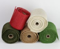 "Burlap Ribbons - 6"" Wide"
