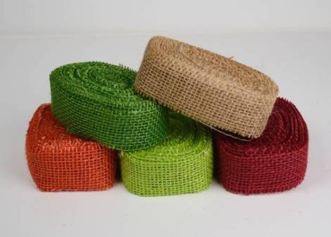 "1.5"" Wide Burlap Ribbon Color Assortment (5 Pack) - 10 Yards"