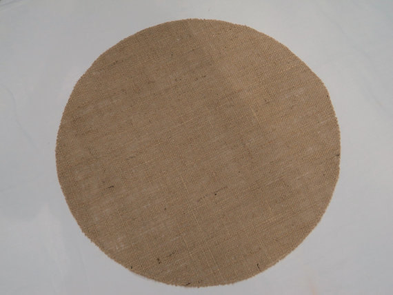 Round Burlap Napkins with Serged Edges (12 PK)