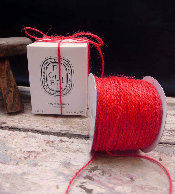 2 mm Red Jute Twine - 100 Yards