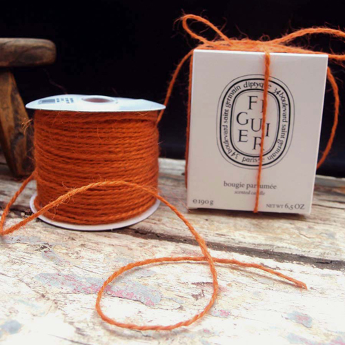 2 mm Orange Jute Twine - 100 Yards
