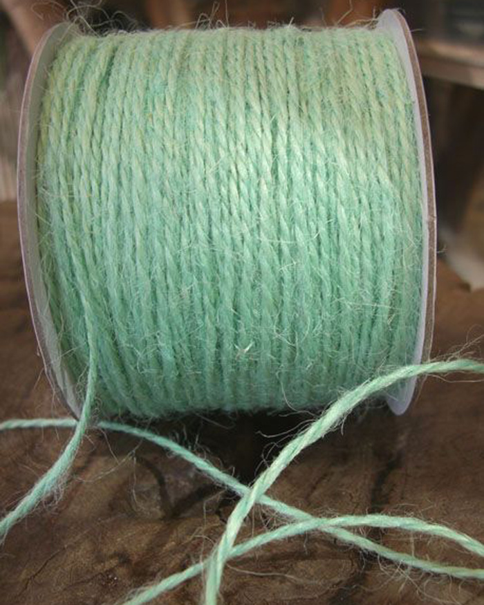 2 mm Mint Jute Twine - 100 Yards