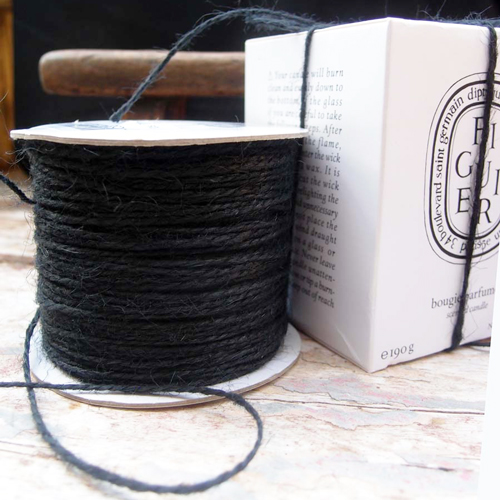 2 mm Black Jute Twine - 100 yards
