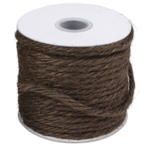 Twine Jute 25 Yards, 3.55 MM - Chocolate Brown