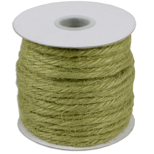 Green Jute Cord - 25 Yards, 3.5mm